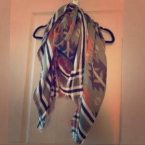 Accessories - Aztec print blanket scarf